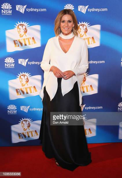 Kylie Gillies attends opening night of Evita at Sydney Opera House on September 18 2018 in Sydney Australia