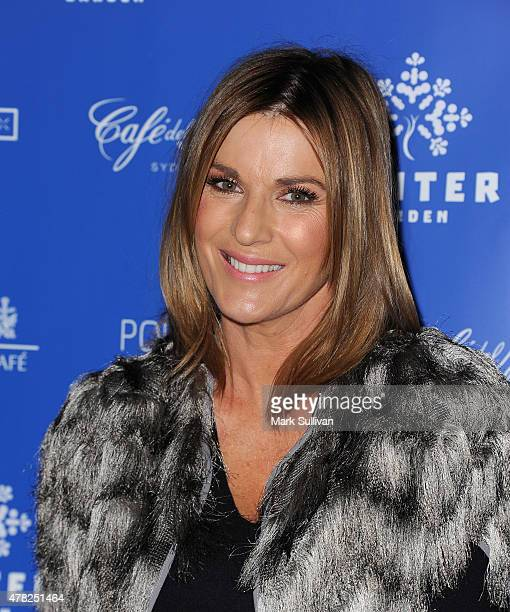 Kylie Gillies attends the VIP launch of Winter Garden Sydney openair skating rink at St Mary's Cathedral on June 24 2015 in Sydney Australia
