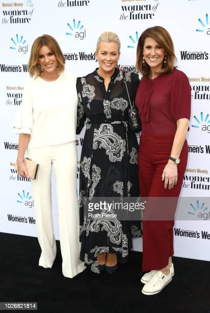 Kylie Gillies Samantha Armytage and Natalie Barr attend the Women of the Future Awards at Quay on September 5 2018 in Sydney Australia