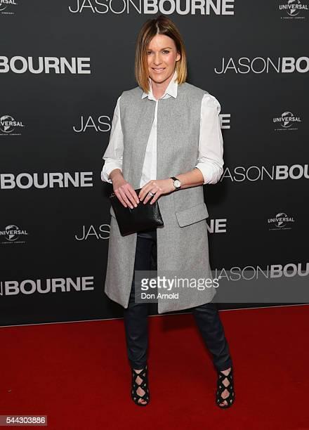 Kylie Gilllies arrives ahead of the Jason Bourne Australian Premiere at Hoyts Entertainment Quarter on July 3 2016 in Sydney Australia