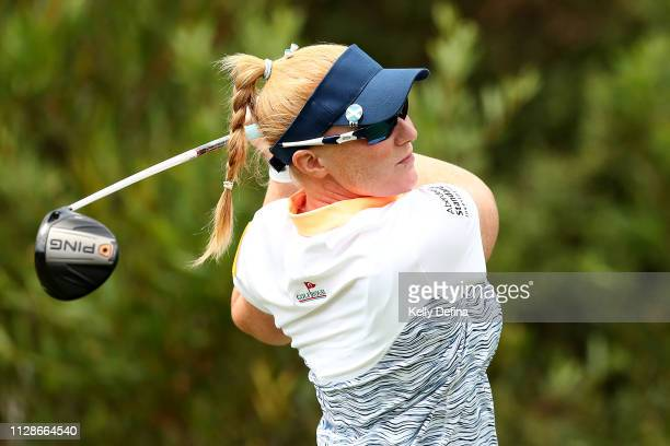 Kylie Henry of Scotland hits a tee shot during Day four of the ISPS Handa Vic Open at 13th Beach Golf Club on February 10 2019 in Geelong Australia