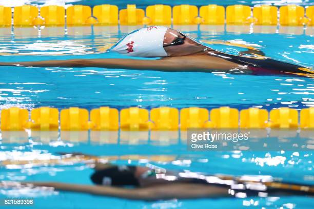 Kylie Jacqueline Masse of Canada competes during the Women's 100m Backstroke Semifinals on day eleven of the Budapest 2017 FINA World Championships...
