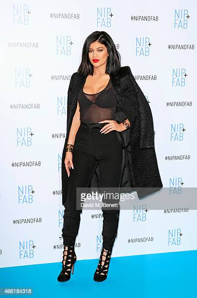 Kylie Jenner, ambassador for NIP+FAB, poses at a photocall for NIP+FAB at Vue Westfield on March 14, 2015 in London, England.