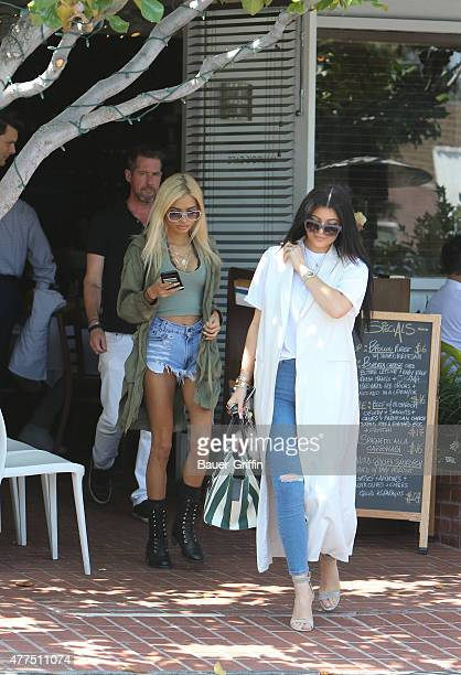 Kylie Jenner and her pal Pia Mia are seen on June 17 2015 in Los Angeles California
