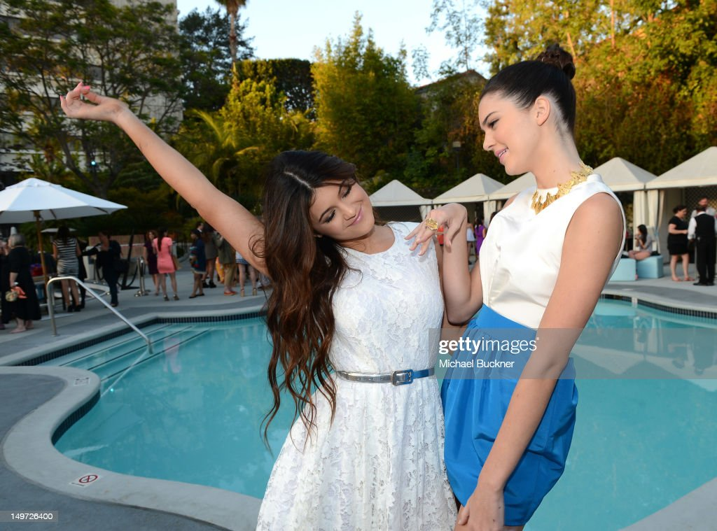 Kylie Jenner (L) and Kendall Jenner attend Seventeen Magazine's September Issue Celebration with Kendall Jenner and Kylie Jenner at the W Hotel Westwood on August 2, 2012 in Westwood, California.
