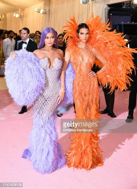 Kylie Jenner and Kendall Jenner attend The 2019 Met Gala Celebrating Camp Notes on Fashion at Metropolitan Museum of Art on May 06 2019 in New York...