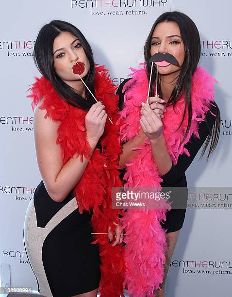 Kylie Jenner and Kendall Jenner attends The Rent The Runway Popup Shop at Andaz on February 13 2012 in West Hollywood California