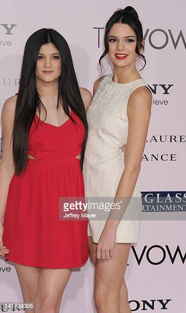 """Kylie Jenner and Kendall Jenner rrive at """"The Vow"""" Los Angeles Premiere at Grauman's Chinese Theatre on February 6, 2012 in Hollywood, California."""