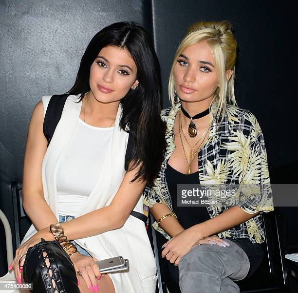 Kylie Jenner and Pia Mia attend LA Gear Presents Sports Spectacular Charity Basketball Game Hosted By Tyga on May 30 2015 in Los Angeles California