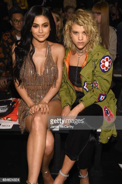 Kylie Jenner and Sofia Richie attend the Jeremy Scott collection Front Row during New York Fashion Week The Shows at Gallery 1 Skylight Clarkson Sq...