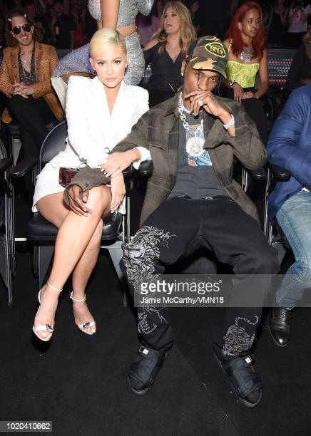 Kylie Jenner and Travis Sctt attend the 2018 MTV Video Music Awards at Radio City Music Hall on August 20 2018 in New York City