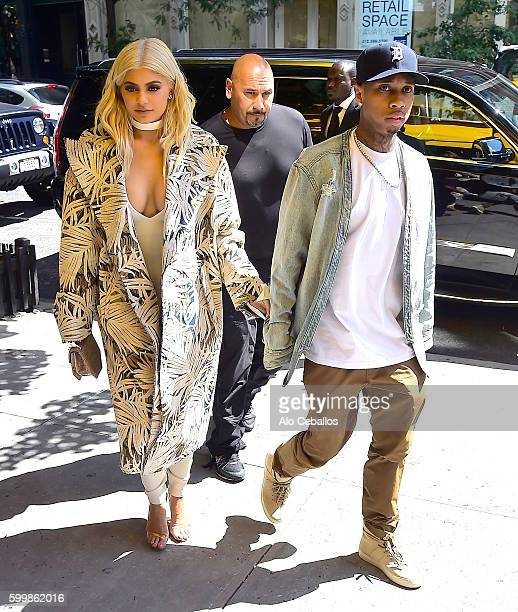 Kylie Jenner and Tyga are seen in Soho on September 7 2016 in New York City