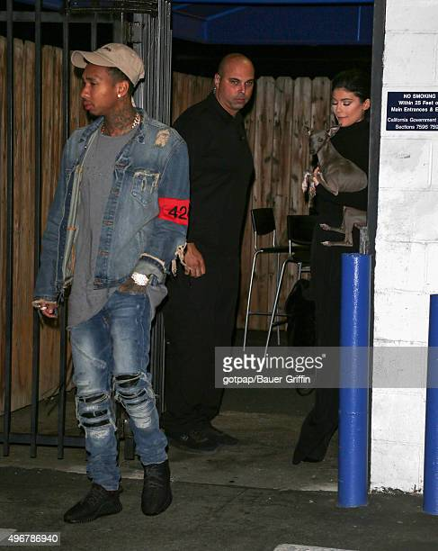 Kylie Jenner and Tyga are seen on November 11 2015 in Los Angeles California