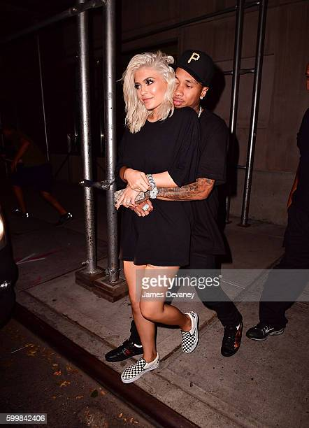 Kylie Jenner and Tyga seen on the streets of Manhattan on September 6 2016 in New York City