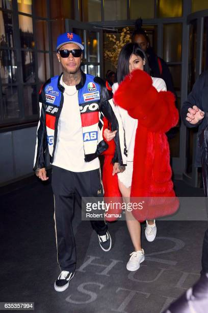 Kylie Jenner and Tyga seen out in Manhattan on February 14 2017 in New York City