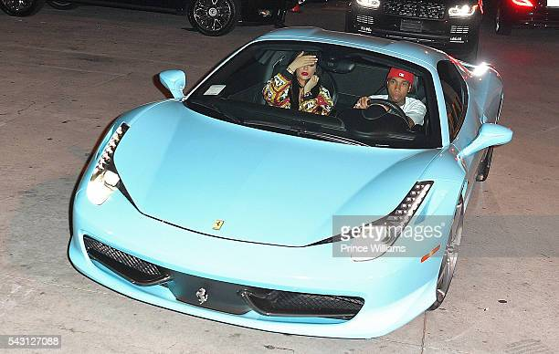 Kylie Jenner and Tyga spotted outside of 1 Oak Nightclub on June 25 2016 in Los Angeles California