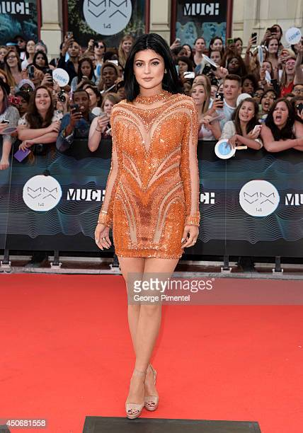 Kylie Jenner arrive at the 2014 MuchMusic Video Awards at MuchMusic HQ on June 15 2014 in Toronto Canada