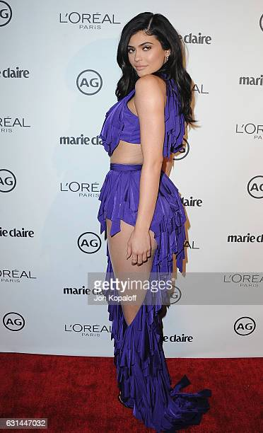 Kylie Jenner arrives at Marie Claire's Image Maker Awards 2017 at Catch LA on January 10 2017 in West Hollywood California