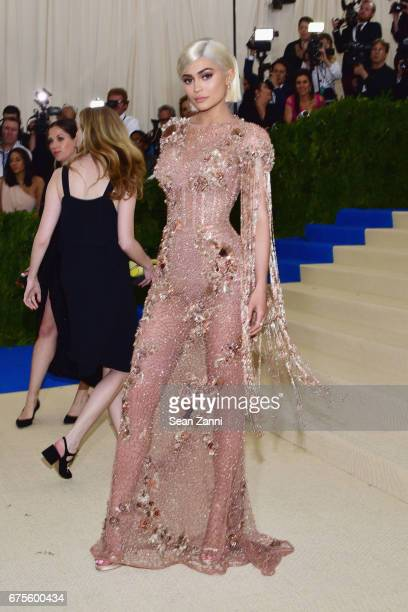 Kylie Jenner arrives at Rei Kawakubo/Comme des Garcons Art Of The InBetween Costume Institute Gala at The Metropolitan Museum on May 1 2017 in New...
