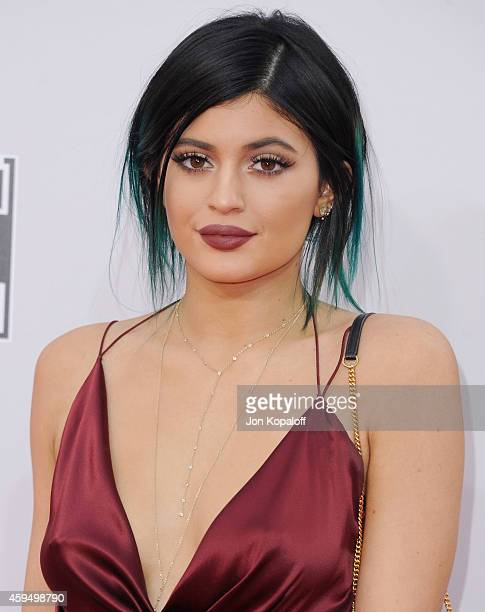 Kylie Jenner arrives at the 2014 American Music Awards at Nokia Theatre LA Live on November 23 2014 in Los Angeles California