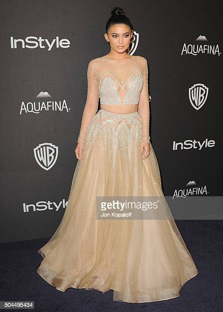 Kylie Jenner arrives at the 2016 InStyle And Warner Bros. 73rd Annual Golden Globe Awards Post-Party at The Beverly Hilton Hotel on January 10, 2016...