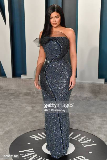Kylie Jenner arrives at the 2020 Vanity Fair Oscar Party hosted by Radhika Jones at Wallis Annenberg Center for the Performing Arts on February 09...