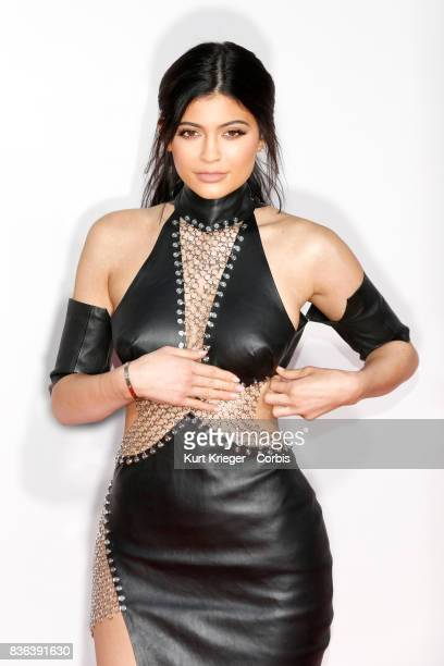 Image has been digitally retouched Kylie Jenner arrives at the American Music Awards 2015 in Los Angeles California on November 22 2015
