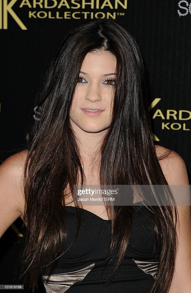 Kylie Jenner arrives at the red carpet of the Kardashian Kollection Launch Party on August 17, 2011 in Hollywood, California.