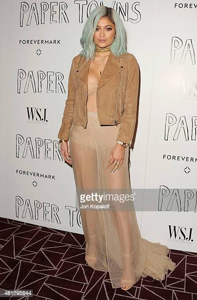Kylie Jenner arrives at the Screening Of 20th Century Fox's Paper Towns at The London West Hollywood on July 18 2015 in West Hollywood California