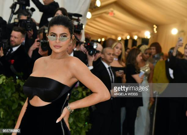 Kylie Jenner arrives for the 2018 Met Gala on May 7 at the Metropolitan Museum of Art in New York The Gala raises money for the Metropolitan Museum...