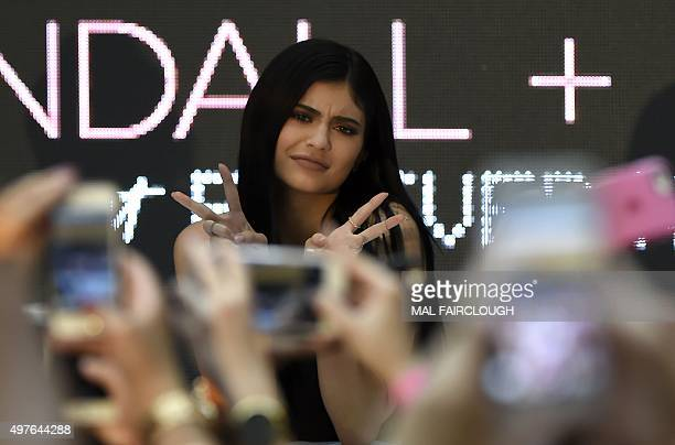 Kylie Jenner at Chadstone Shopping Centre in Melbourne on November 18, 2015. AFP PHOTO / MAL FAIRCLOUGH