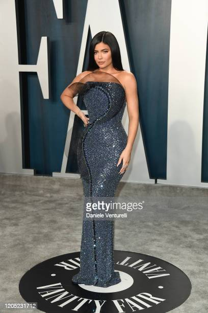 Kylie Jenner attends 2020 Vanity Fair Oscar Party Hosted By Radhika Jones at Wallis Annenberg Center for the Performing Arts on February 09 2020 in...