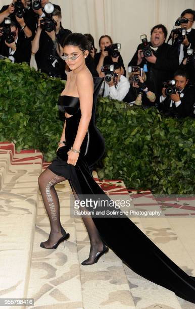 Kylie Jenner attends Heavenly Bodies Fashion The Catholic Imagination Costume Institute Gala a the Metropolitan Museum of Art in New York City