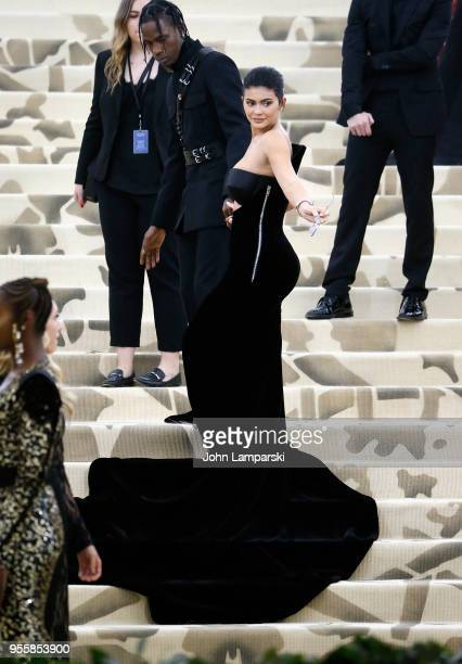 Kylie Jenner attends Heavenly Bodies Fashion The Catholic Imagination Costume Institute Gala at The Metropolitan Museum of Art on May 7 2018 in New...