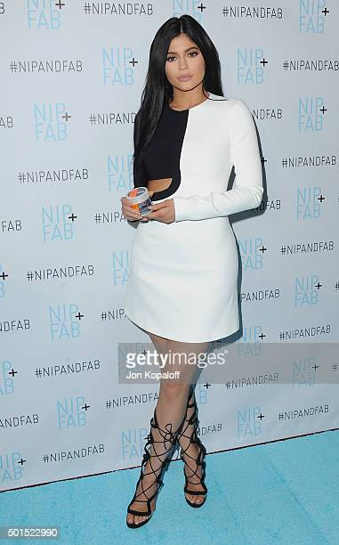 Kylie Jenner attends Kylie Jenner Announced As Brand Ambassador For Nip Fab at W Hollywood on December 15 2015 in Hollywood California