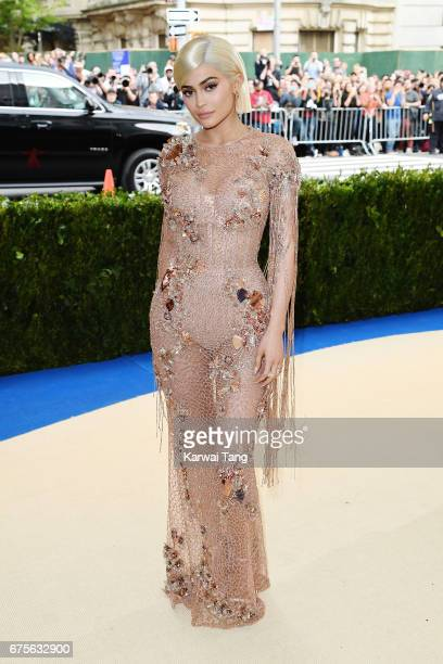 Kylie Jenner attends Rei Kawakubo/Comme des Garcons Art Of The InBetween Costume Institute Gala at Metropolitan Museum of Art on May 1 2017 in New...