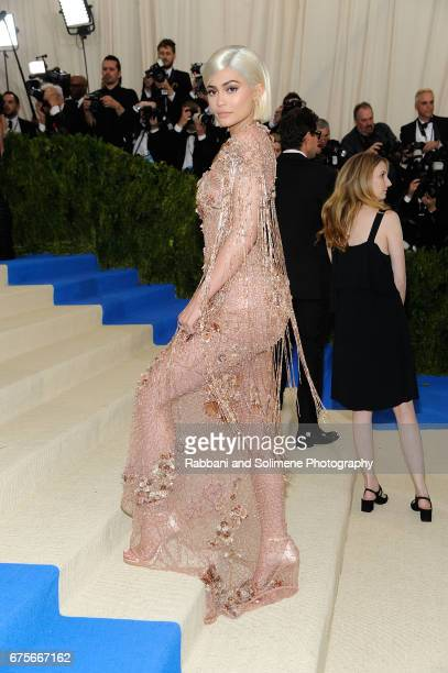 Kylie Jenner attends Rei Kawakubo/Comme des Garcons Art Of The InBetween Costume Institute Gala Arrivals at Metropolitan Museum of Art on May 1 2017...