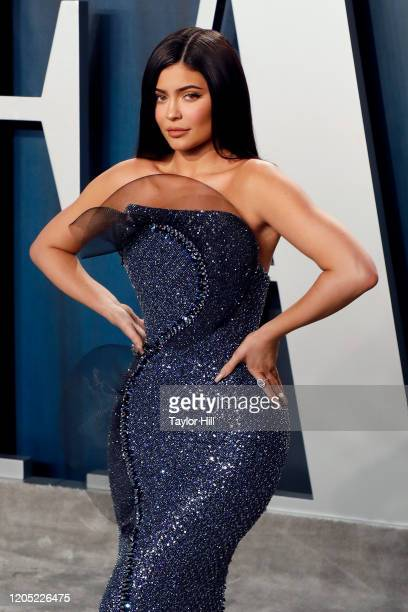 Kylie Jenner attends the 2020 Vanity Fair Oscar Party at Wallis Annenberg Center for the Performing Arts on February 09 2020 in Beverly Hills...