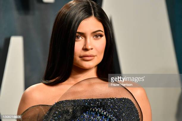 Kylie Jenner attends the 2020 Vanity Fair Oscar Party hosted by Radhika Jones at Wallis Annenberg Center for the Performing Arts on February 09, 2020...