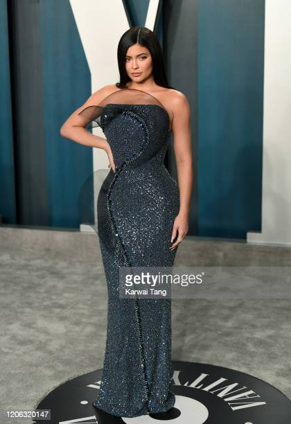 Kylie Jenner attends the 2020 Vanity Fair Oscar Party hosted by Radhika Jones at Wallis Annenberg Center for the Performing Arts on February 09 2020...