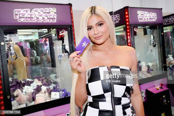 Kylie Jenner attends the Adidas Falcon FW18 Launch Gas Station Popup on September 6 2018 in Los Angeles California
