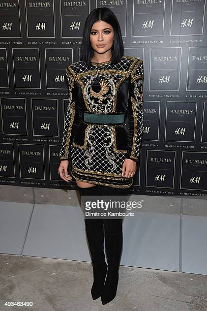 Kylie Jenner attends the BALMAIN X HM Collection Launch at 23 Wall Street on October 20 2015 in New York City