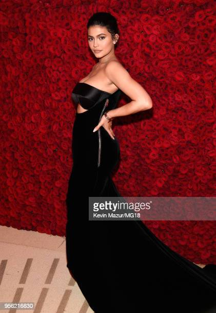 Kylie Jenner attends the Heavenly Bodies Fashion The Catholic Imagination Costume Institute Gala at The Metropolitan Museum of Art on May 7 2018 in...