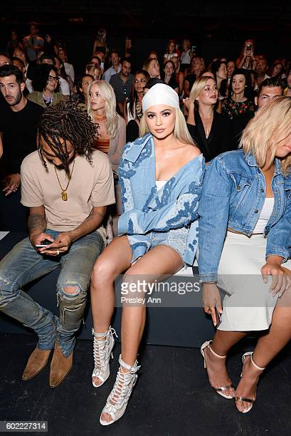 Kylie Jenner attends the Jonathan Simkhai show during New York Fashion Week at Postal Dock at Moynihan Station on September 10, 2016 in New York City.