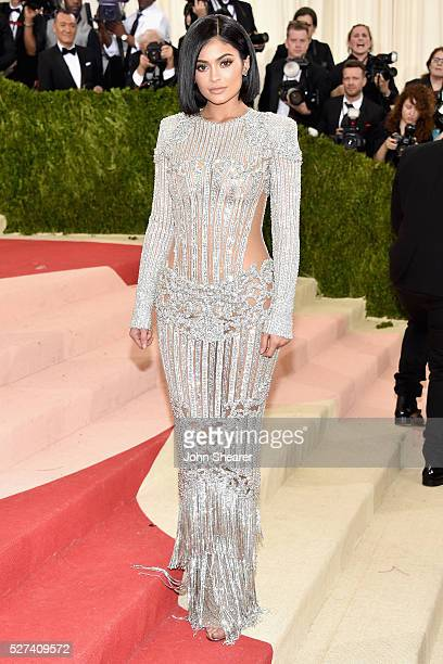 Kylie Jenner attends the Manus x Machina Fashion In An Age Of Technology Costume Institute Gala at Metropolitan Museum of Art on May 2 2016 in New...