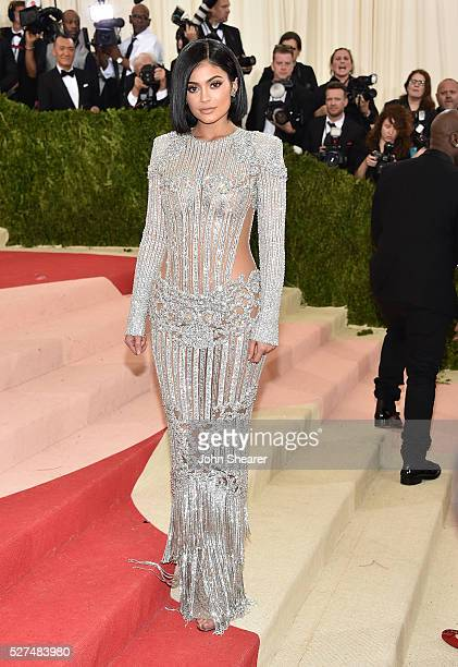 Kylie Jenner attends the 'Manus x Machina: Fashion In An Age Of Technology' Costume Institute Gala at Metropolitan Museum of Art on May 2, 2016 in...