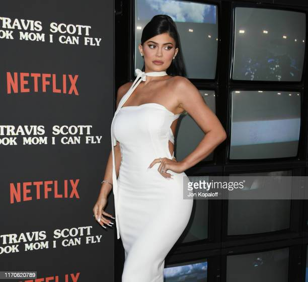 Kylie Jenner attends the Premiere Of Netflix's Travis Scott Look Mom I Can Fly at Barker Hangar on August 27 2019 in Santa Monica California
