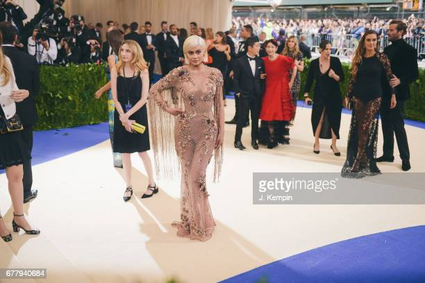 Kylie Jenner attends the quotRei Kawakubo/Comme des Garcons Art Of The InBetweenquot Costume Institute Gala at Metropolitan Museum of Art on May 1...