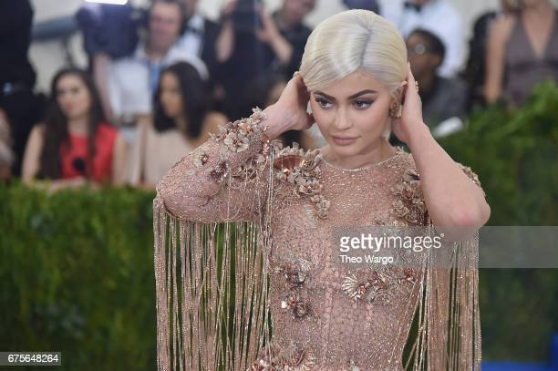 Kylie Jenner attends the Rei Kawakubo/Comme des Garcons Art Of The InBetween Costume Institute Gala at Metropolitan Museum of Art on May 1 2017 in...