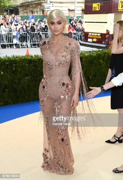 Kylie Jenner attends the 'Rei Kawakubo/Comme des Garcons Art Of The InBetween' Costume Institute Gala at the Metropolitan Museum of Art on May 1 2017...